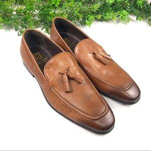 Bruno Magli Men's Brown Tassel Loafers Size 10M